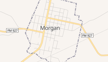 Morgan, Texas map
