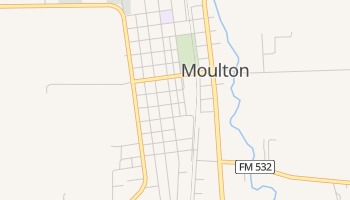 Moulton, Texas map