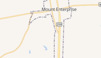 Mount Enterprise, Texas map