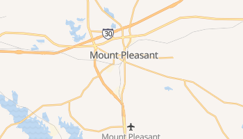 Mount Pleasant, Texas map