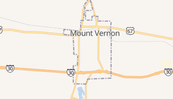 Mount Vernon, Texas map