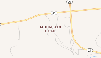 Mountain Home, Texas map