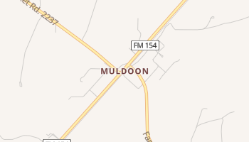 Muldoon, Texas map
