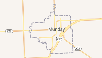 Munday, Texas map