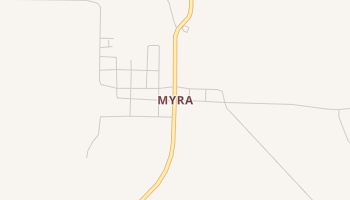 Myra, Texas map