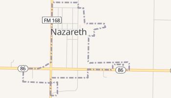 Nazareth, Texas map