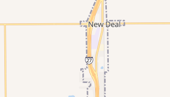 New Deal, Texas map