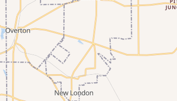 New London, Texas map