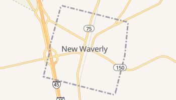 New Waverly, Texas map