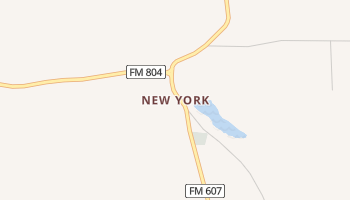 New York, Texas map