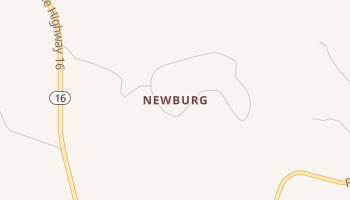 Newburg, Texas map