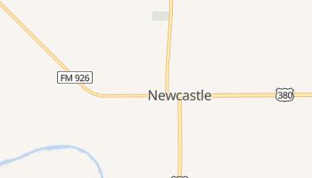 Newcastle, Texas map