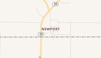 Newport, Texas map