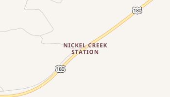 Nickel Creek Station, Texas map