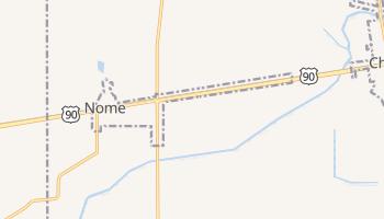 Nome, Texas map