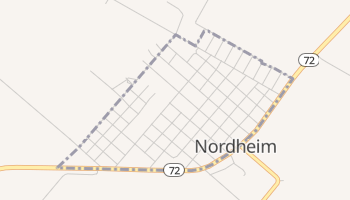 Nordheim, Texas map