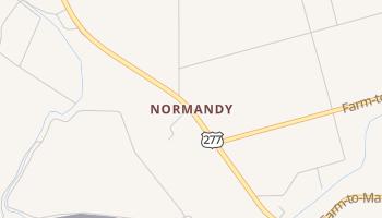 Normandy, Texas map