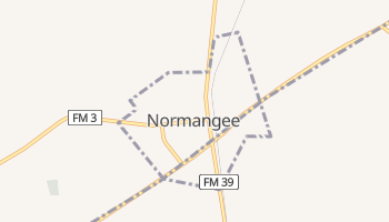Normangee, Texas map