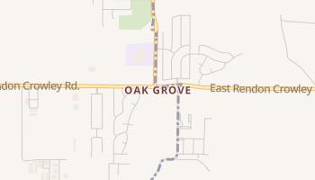 Oak Grove, Texas map