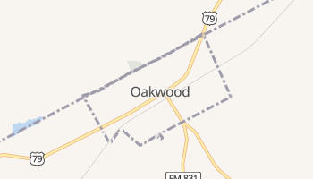 Oakwood, Texas map