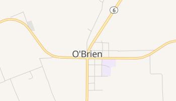 O'Brien, Texas map