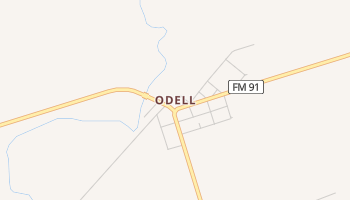 Odell, Texas map