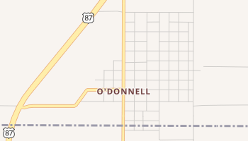 O'Donnell, Texas map