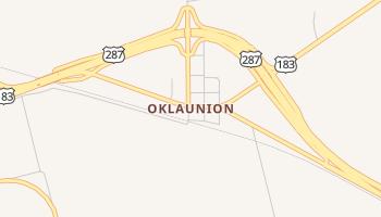 Oklaunion, Texas map