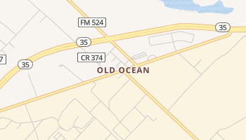 Old Ocean, Texas map