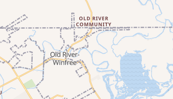 Old River-Winfree, Texas map