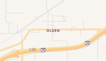 Olden, Texas map
