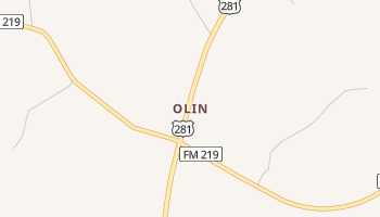 Olin, Texas map