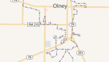 Olney, Texas map