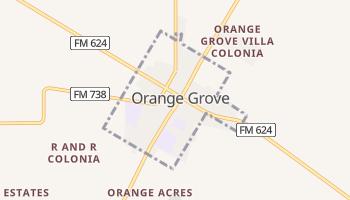 Orange Grove, Texas map