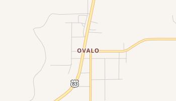 Ovalo, Texas map