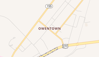 Owentown, Texas map