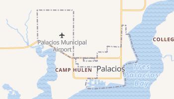 Palacios, Texas map
