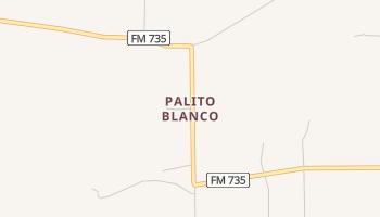 Palito Blanco, Texas map