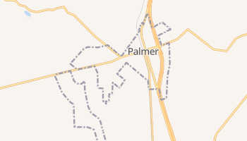 Palmer, Texas map