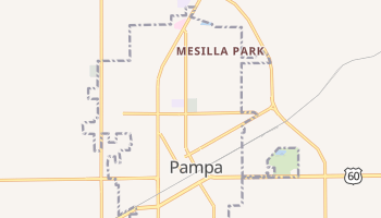 Pampa, Texas map