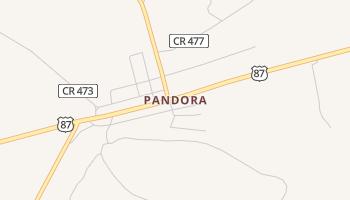 Pandora, Texas map