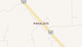 Papalote, Texas map