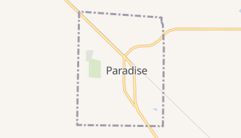 Paradise, Texas map