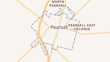 Pearsall, Texas map