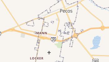 Pecos, Texas map