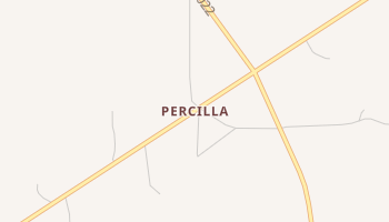 Percilla, Texas map