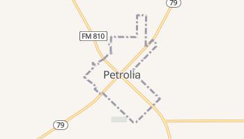Petrolia, Texas map