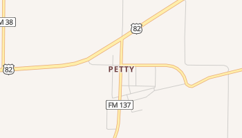 Petty, Texas map