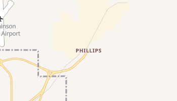 Phillips, Texas map