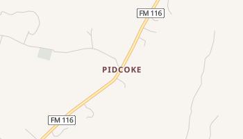 Pidcoke, Texas map